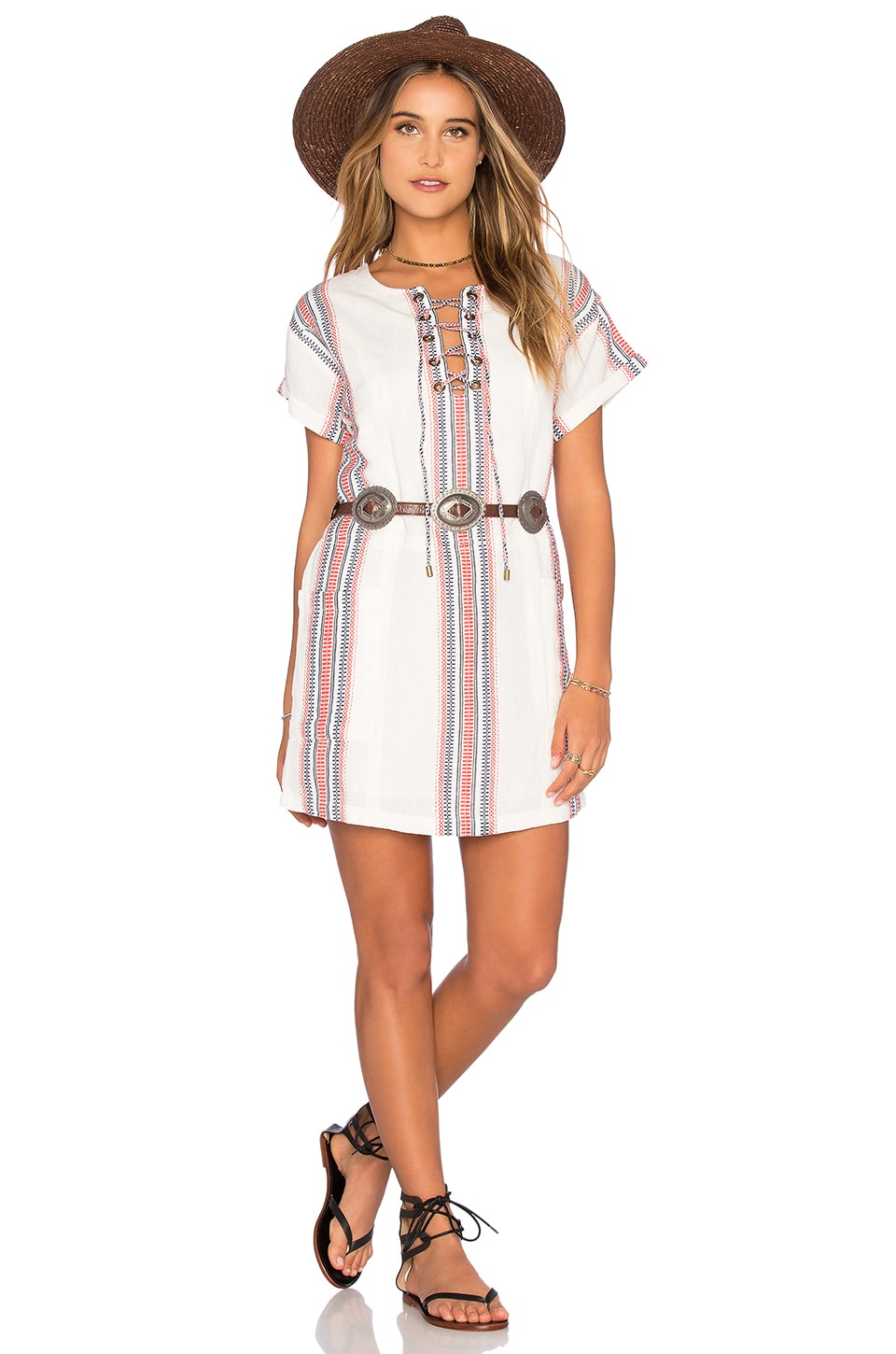 Tularosa Warren Tunic Dress in Beatnik Stripe