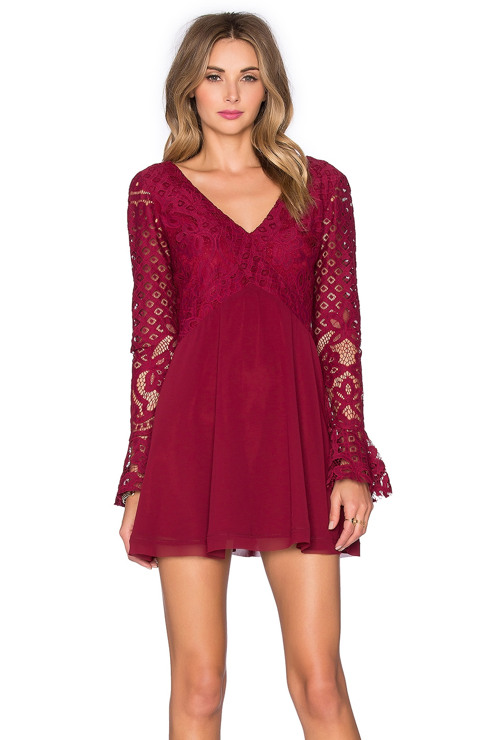 Tularosa x REVOLVE Skylar Dress in Wine