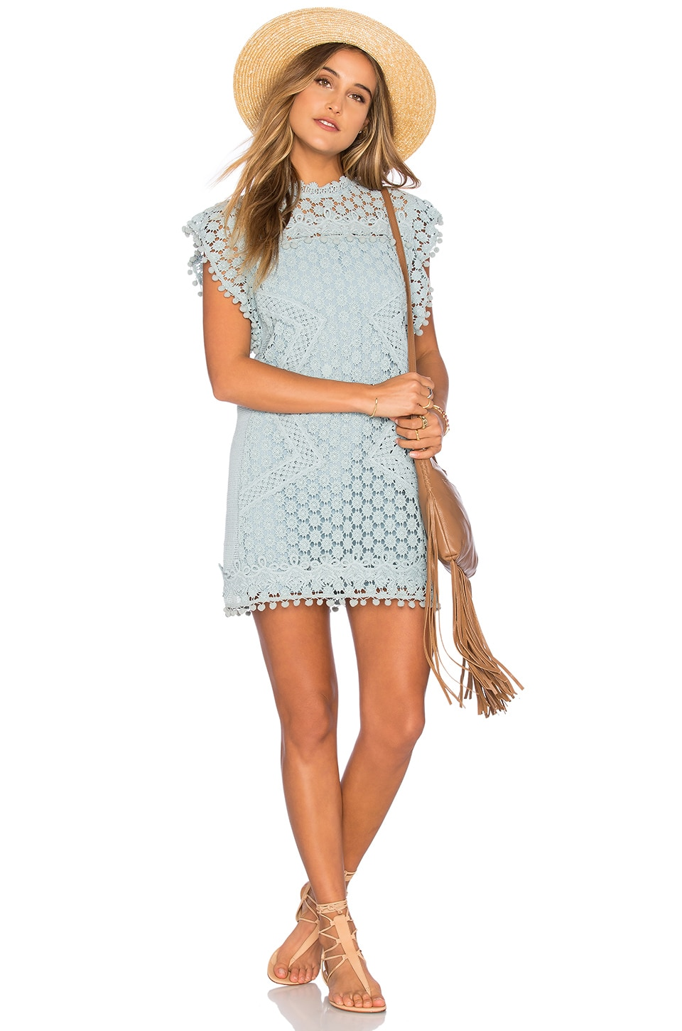 Tularosa Clayton Lace Tunic in Mint