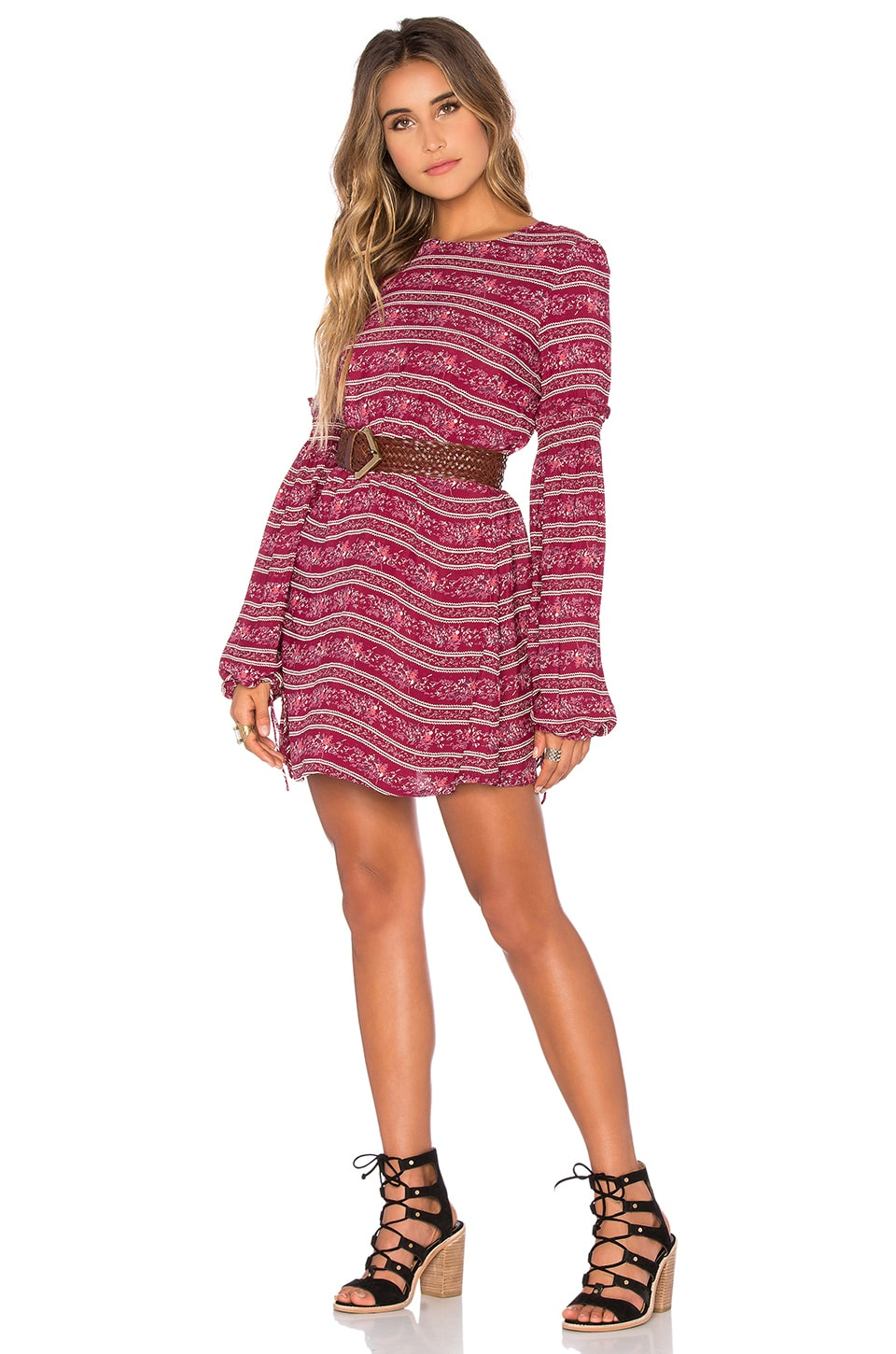 Tularosa x REVOLVE Gracefully Dress in Red Border
