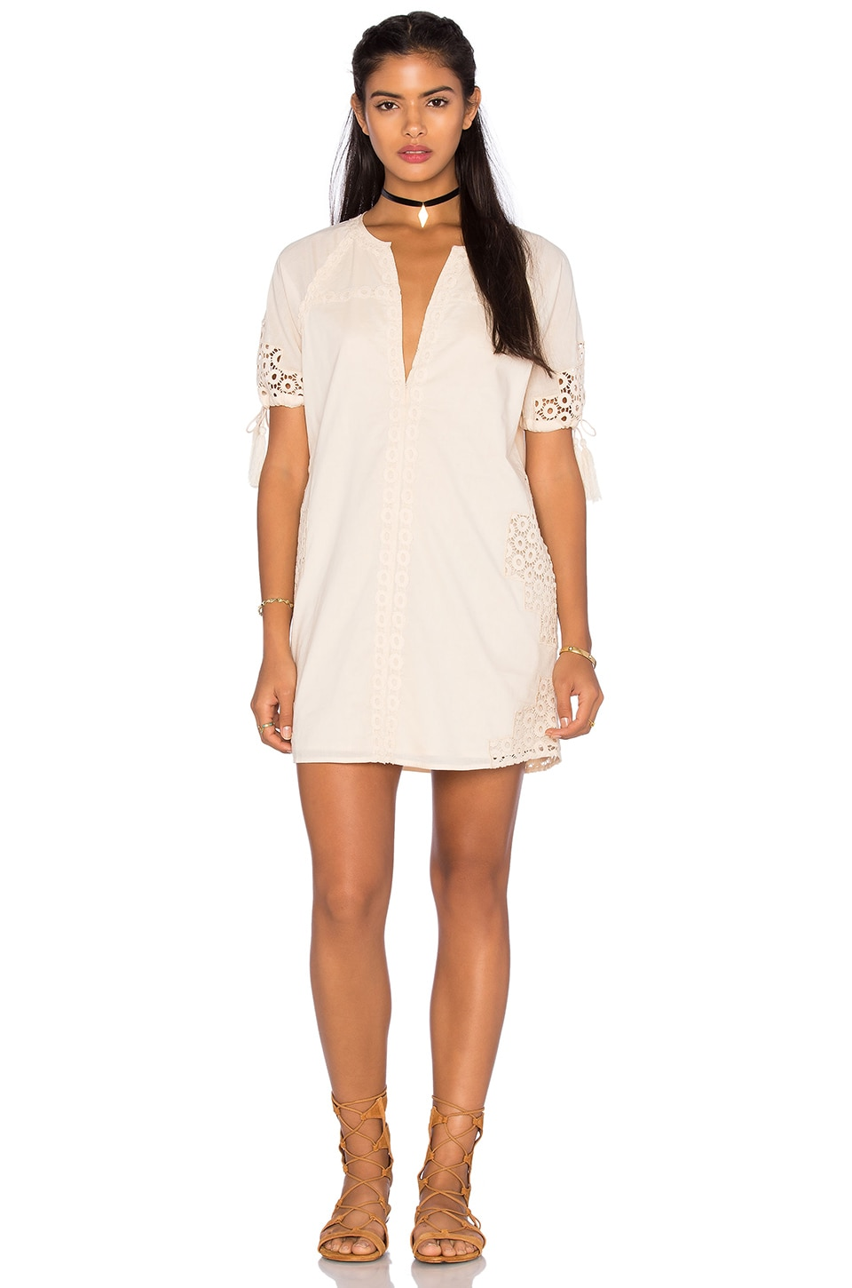 Tularosa Bobbie Tunic Dress in Natural