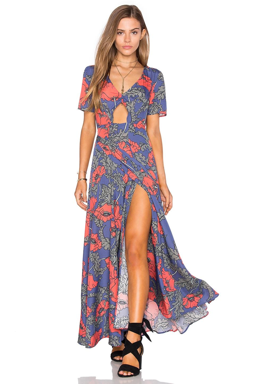 Tularosa Desi Wrap Dress in Peach