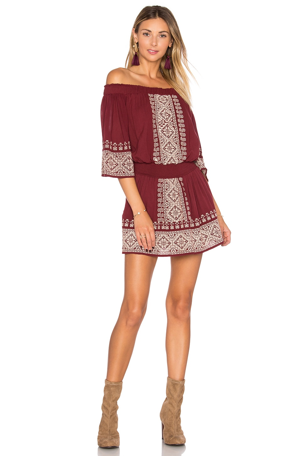 Tularosa Fiona Dress in Mulled Wine