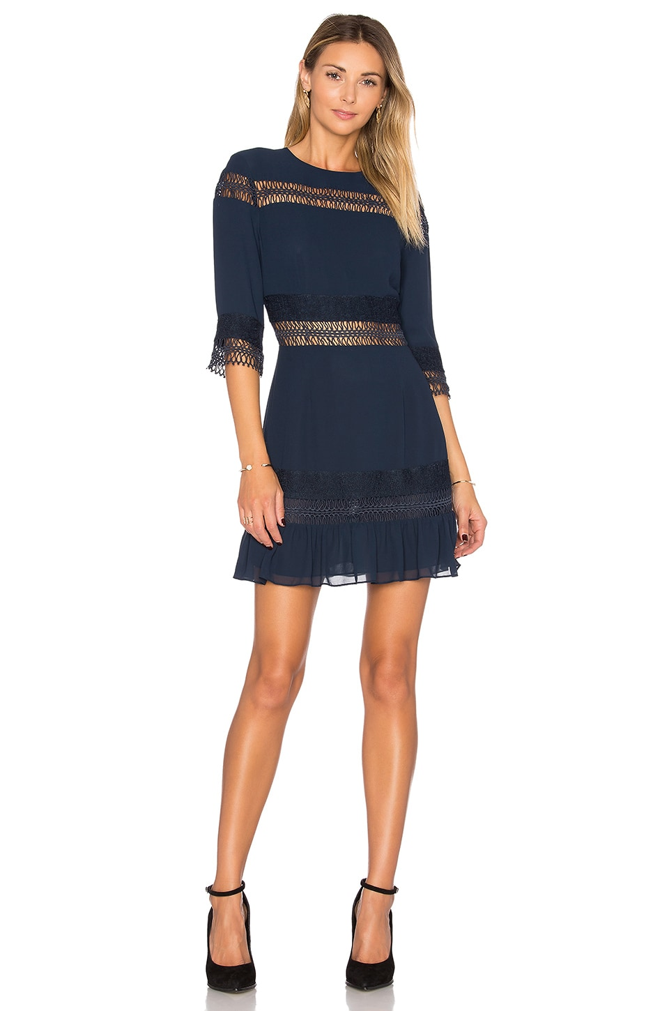 Tularosa Asher Dress in Deep Indigo