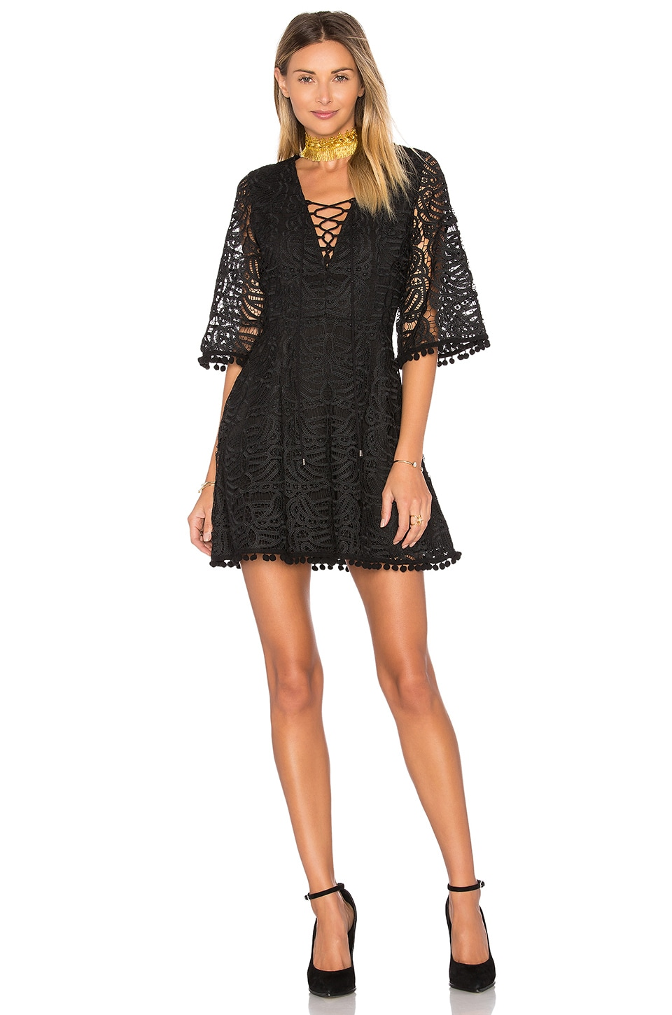 Coal Lace Dress by Tularosa