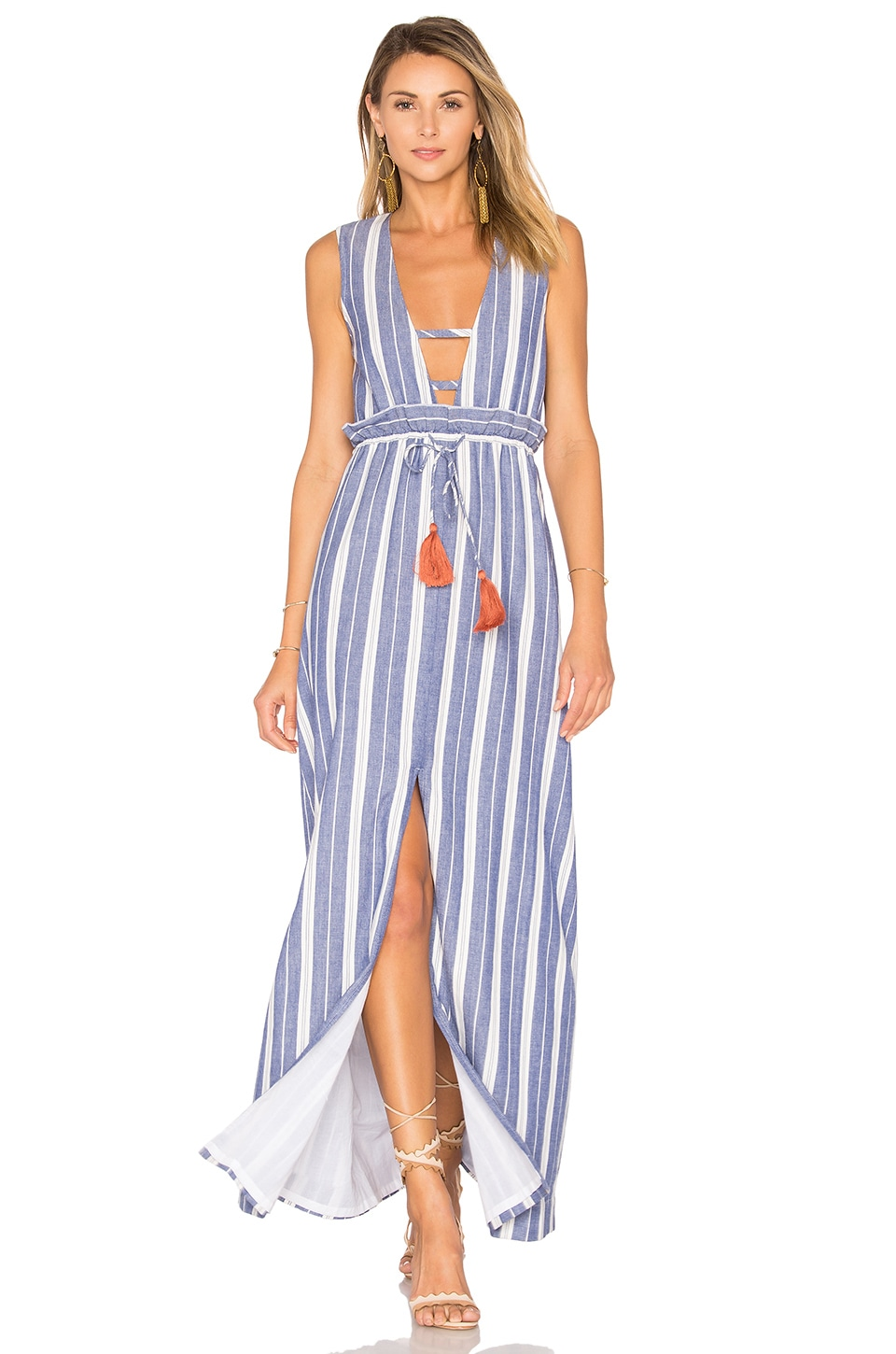 Tularosa Essie Maxi Dress in Indigo Stripe
