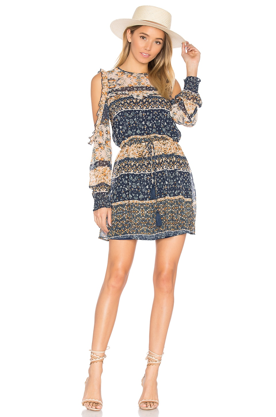 Tularosa x REVOLVE Sabrina Dress in Multi Floral Stripe