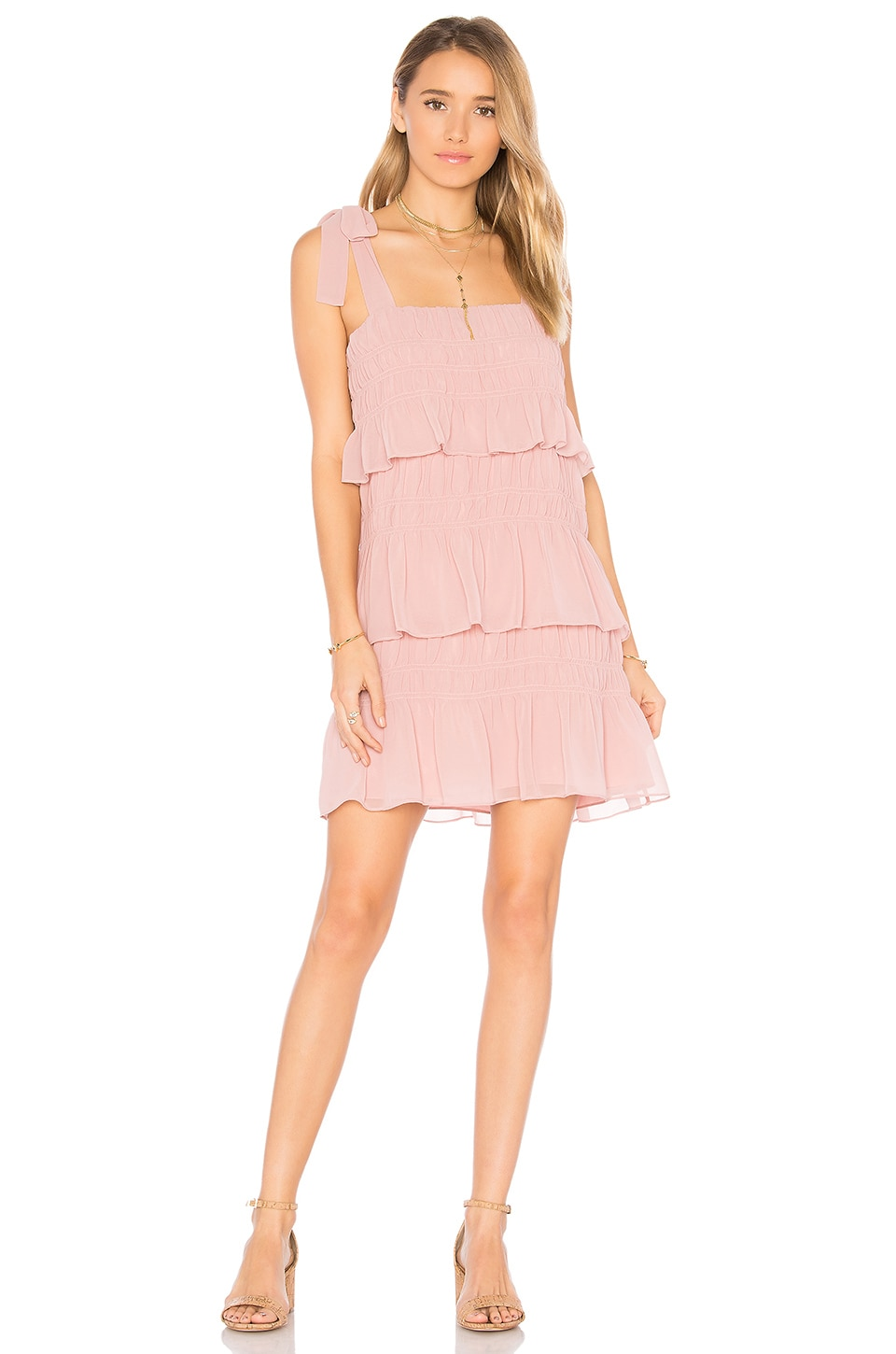 Tularosa x REVOLVE Gloria Dress in Ballet Beige