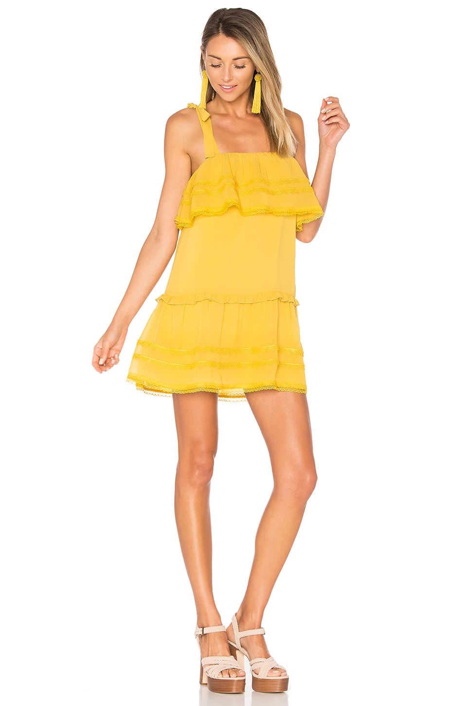 Tularosa Chelsea Babydoll Dress in Marigold