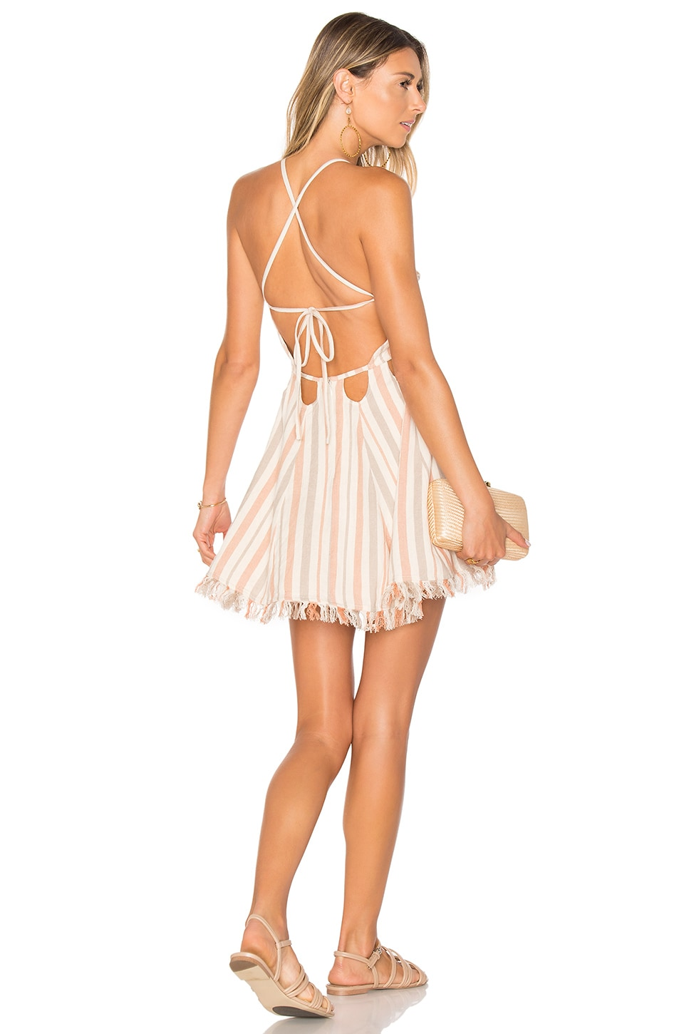 Tularosa Helix Dress in Rose Stripe