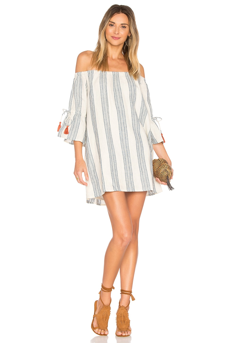 Tularosa Sara Dress in Chambray Stripe