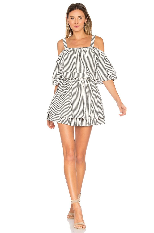 Tularosa x REVOLVE Bay Dress in Black Stripe