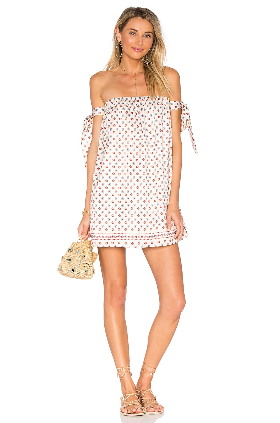Tularosa Perry Dress in Polka Dot Scarf