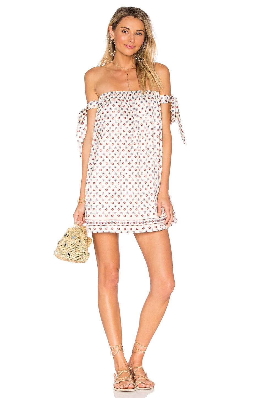 Tularosa Perry Dress in Polka Dot Scarf