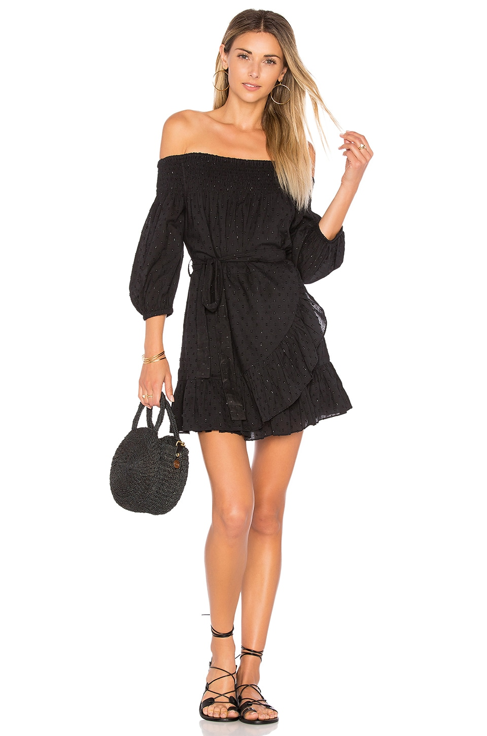 Tularosa x REVOLVE Maida Ruffle Dress in Black