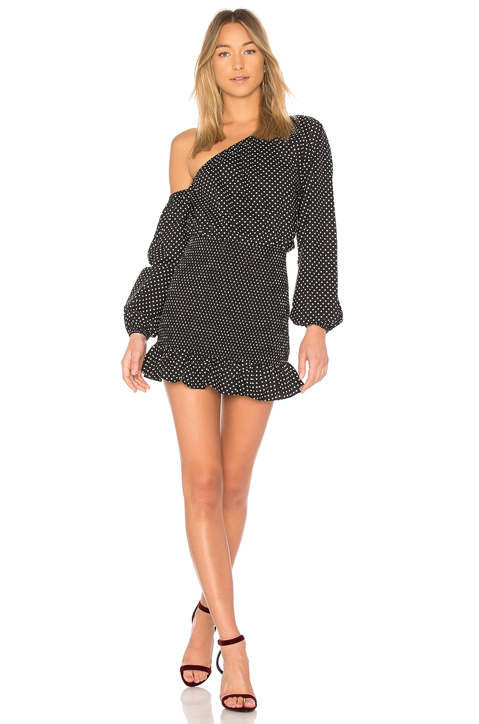 Tularosa Cynthia Dress in Black Polka Dot