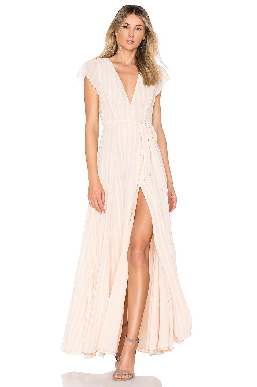 Tularosa Sid Wrap Dress in Stripe