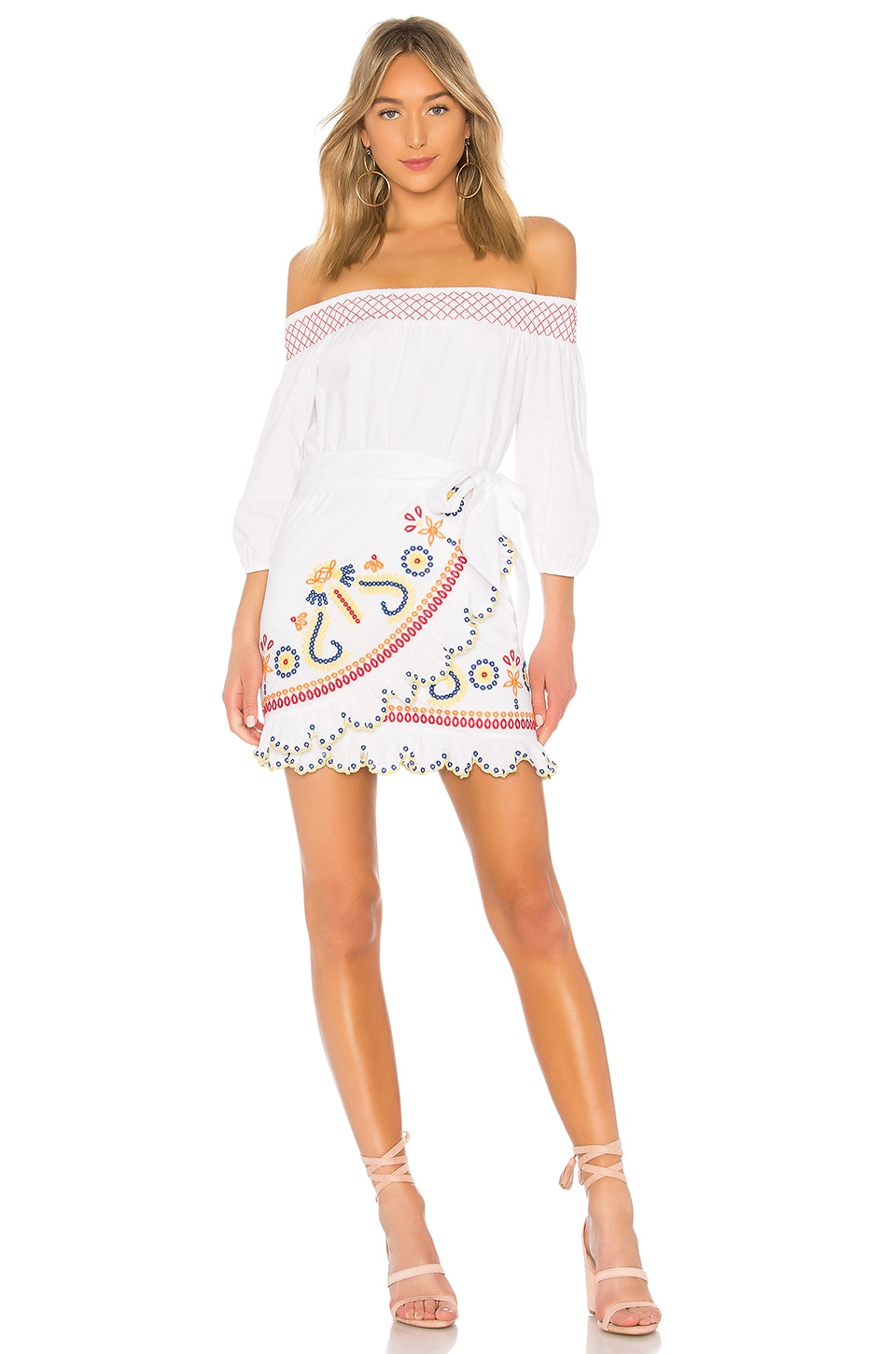 Tularosa Maida Ruffle Dress in Marshmallow