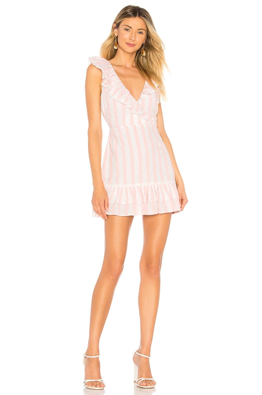 Tularosa Bennet Dress in Pink Double Stripe
