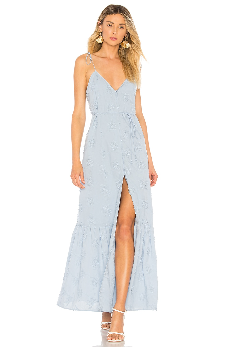 Tularosa Villa Dress in Light Blue