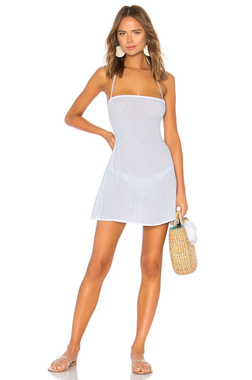 Tularosa Raquel Mini Dress in Blue Stripe