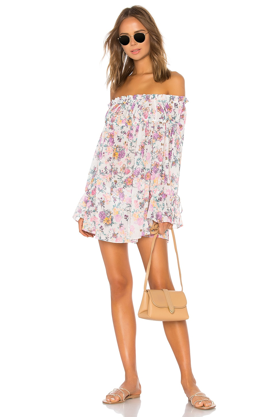 Tularosa Brogan Mini Dress in Pastel Floral