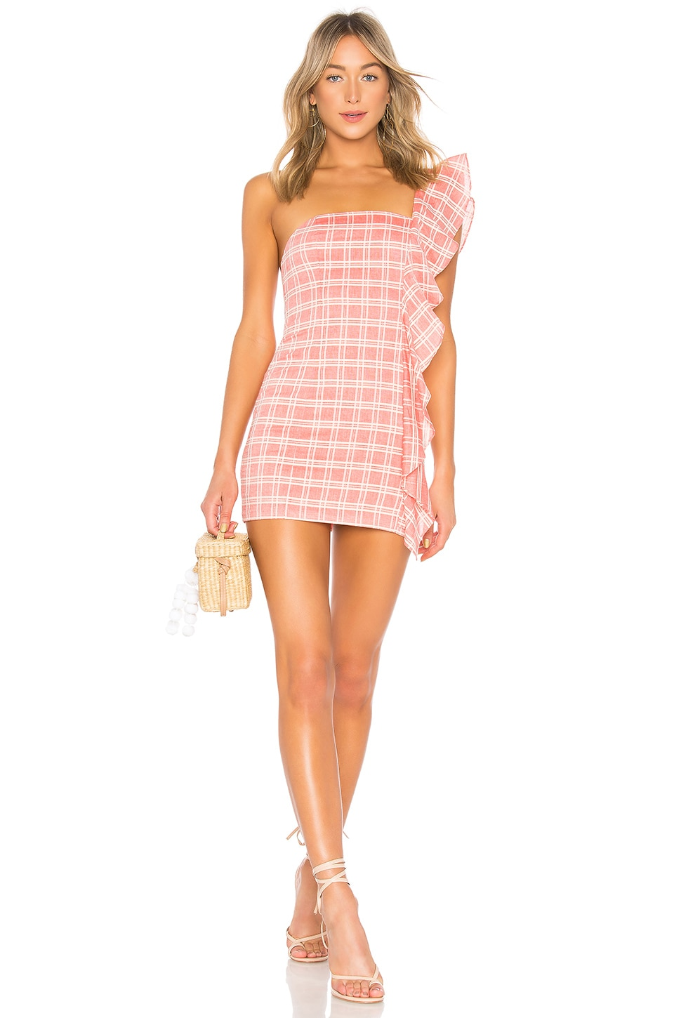 Tularosa Cait Dress in Coral