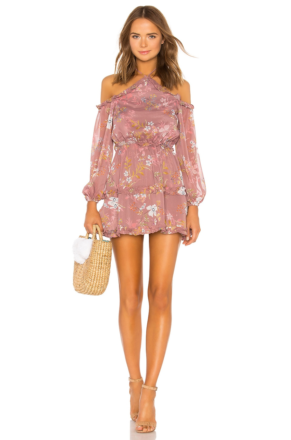 Tularosa Donna Dress in Mauve Floral