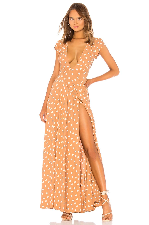Tularosa Sid Wrap Dress in Latte