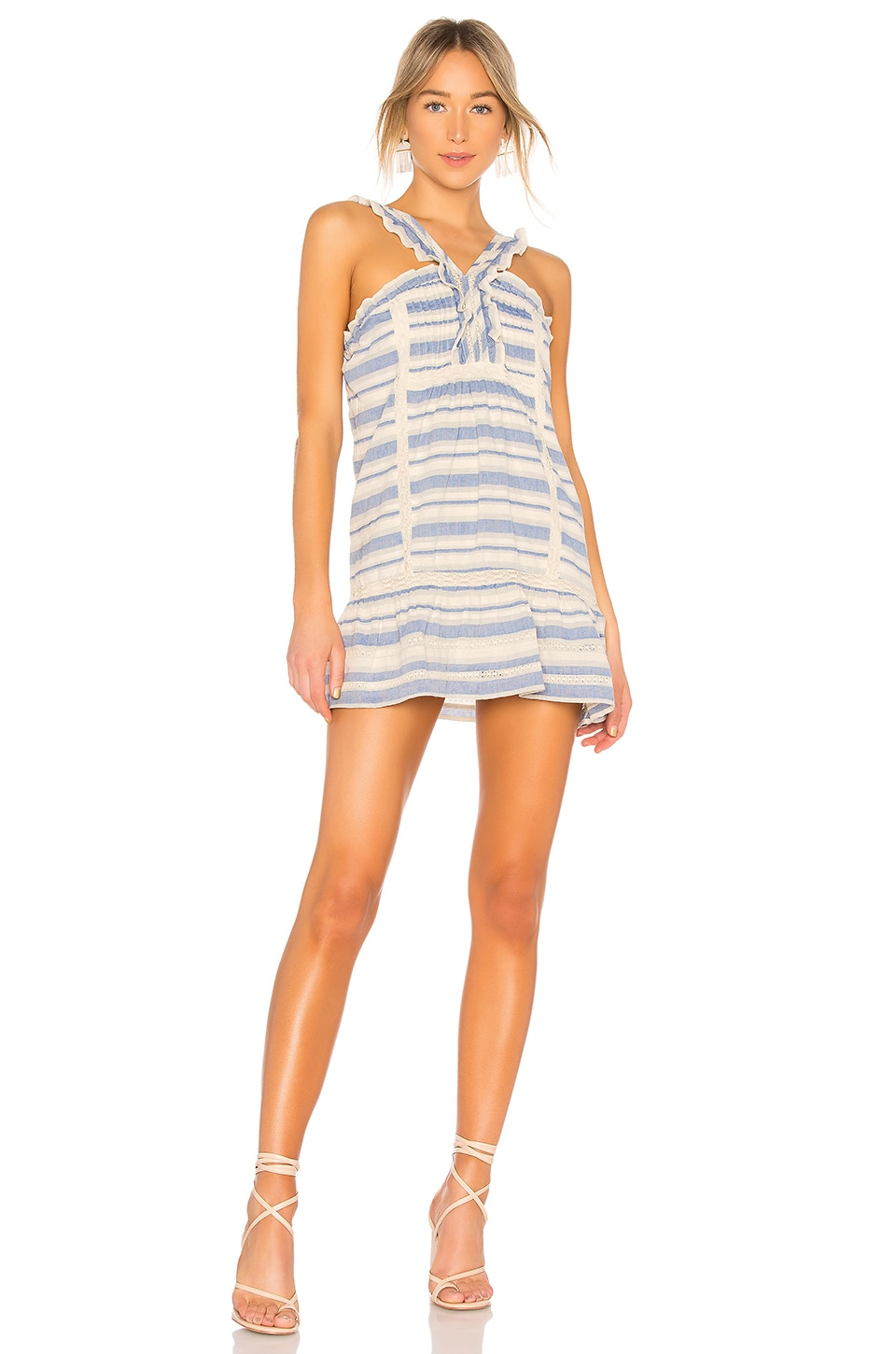 Tularosa Dani Dress in Denim Blue Stripe