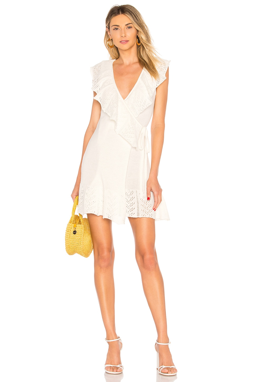 Tularosa Owen Ruffle Dress in Ivory