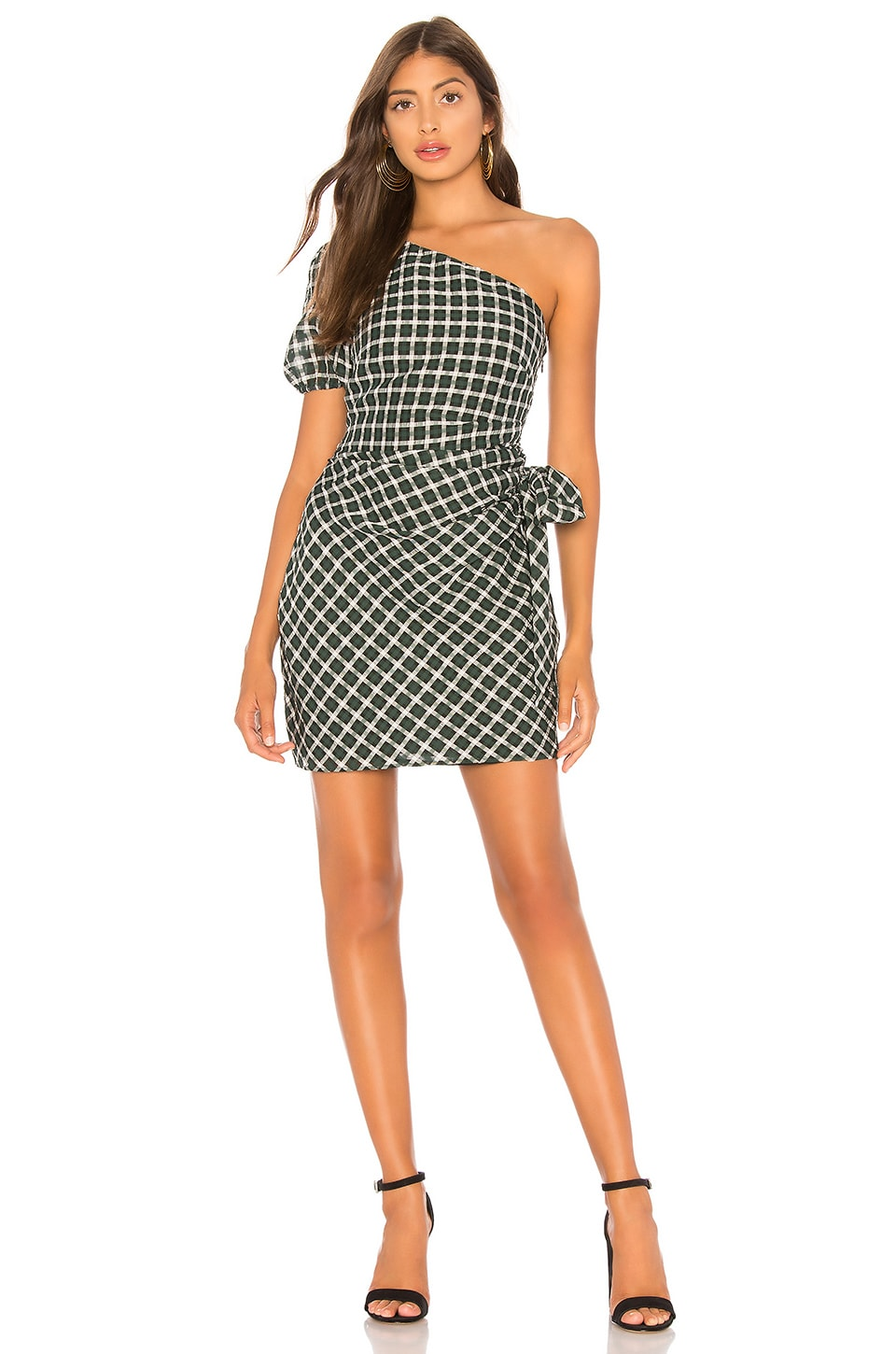 Tularosa Skylar Dress in Green Plaid