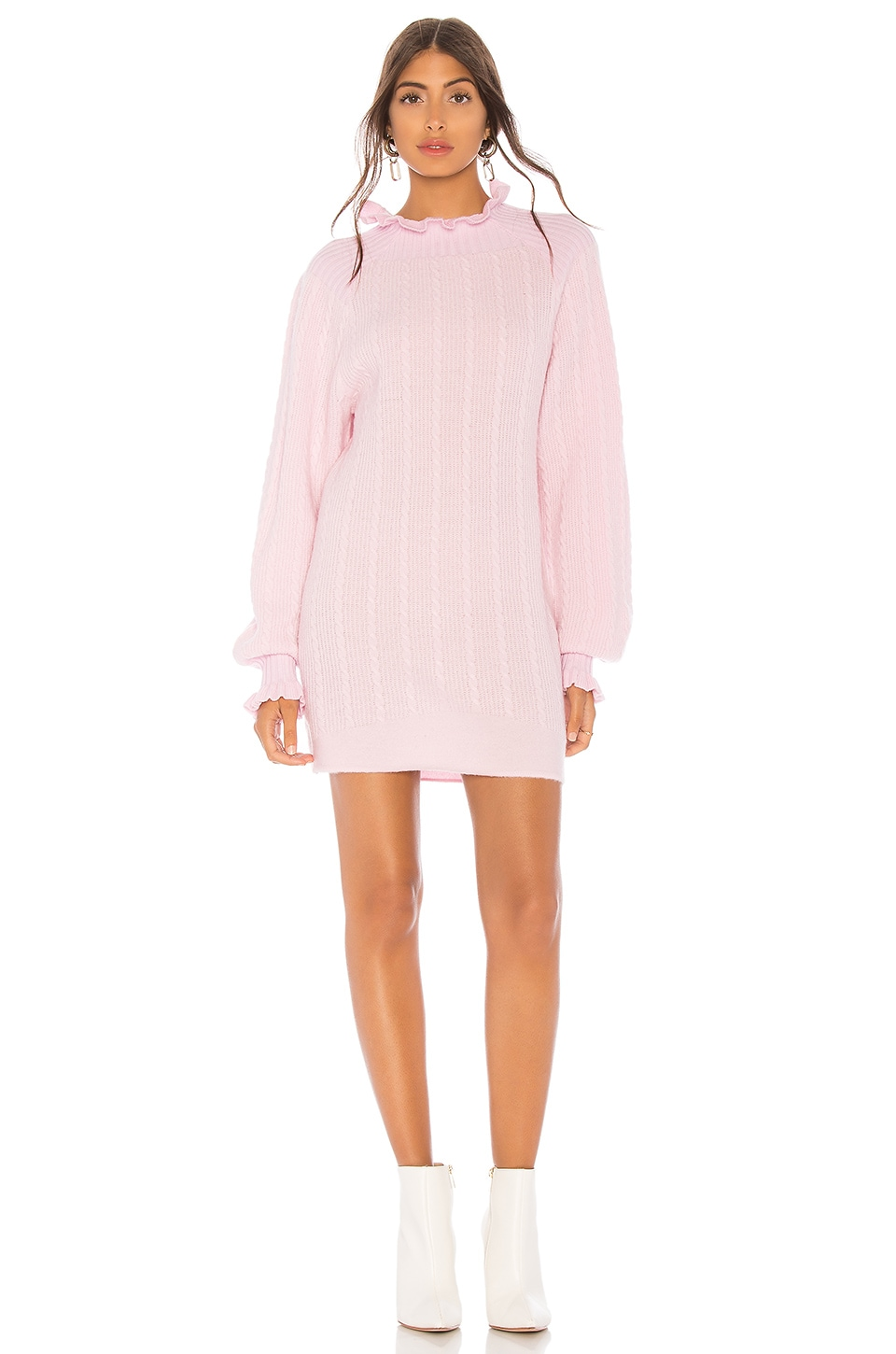 Tularosa Lottie Sweater Dress in Blush Pink