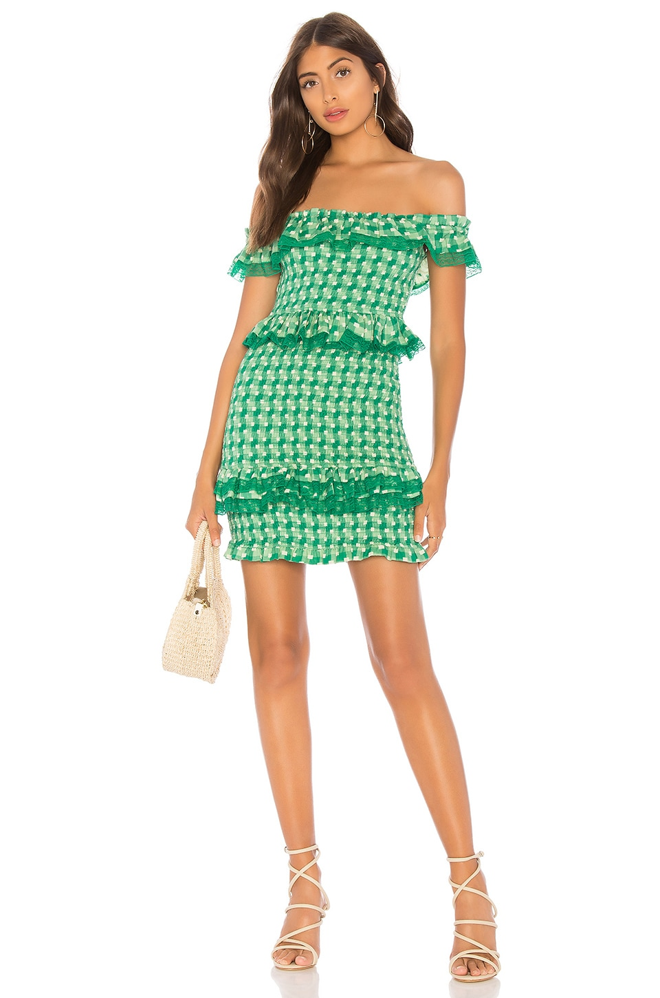 Tularosa Teri Dress in Kelly Green