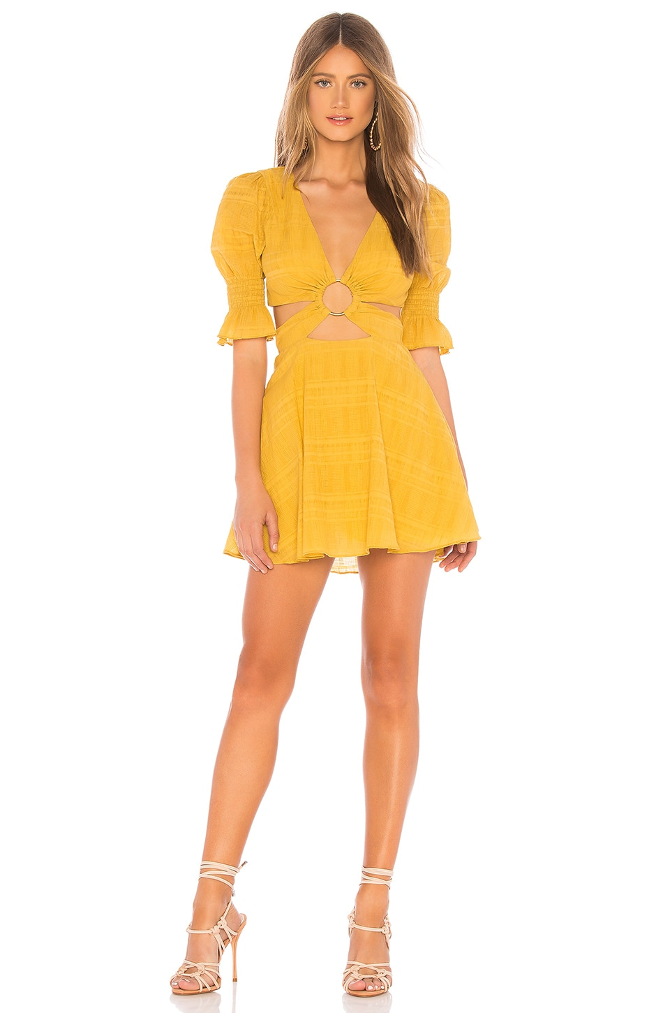 Tularosa Nanette Dress in Mustard Yellow