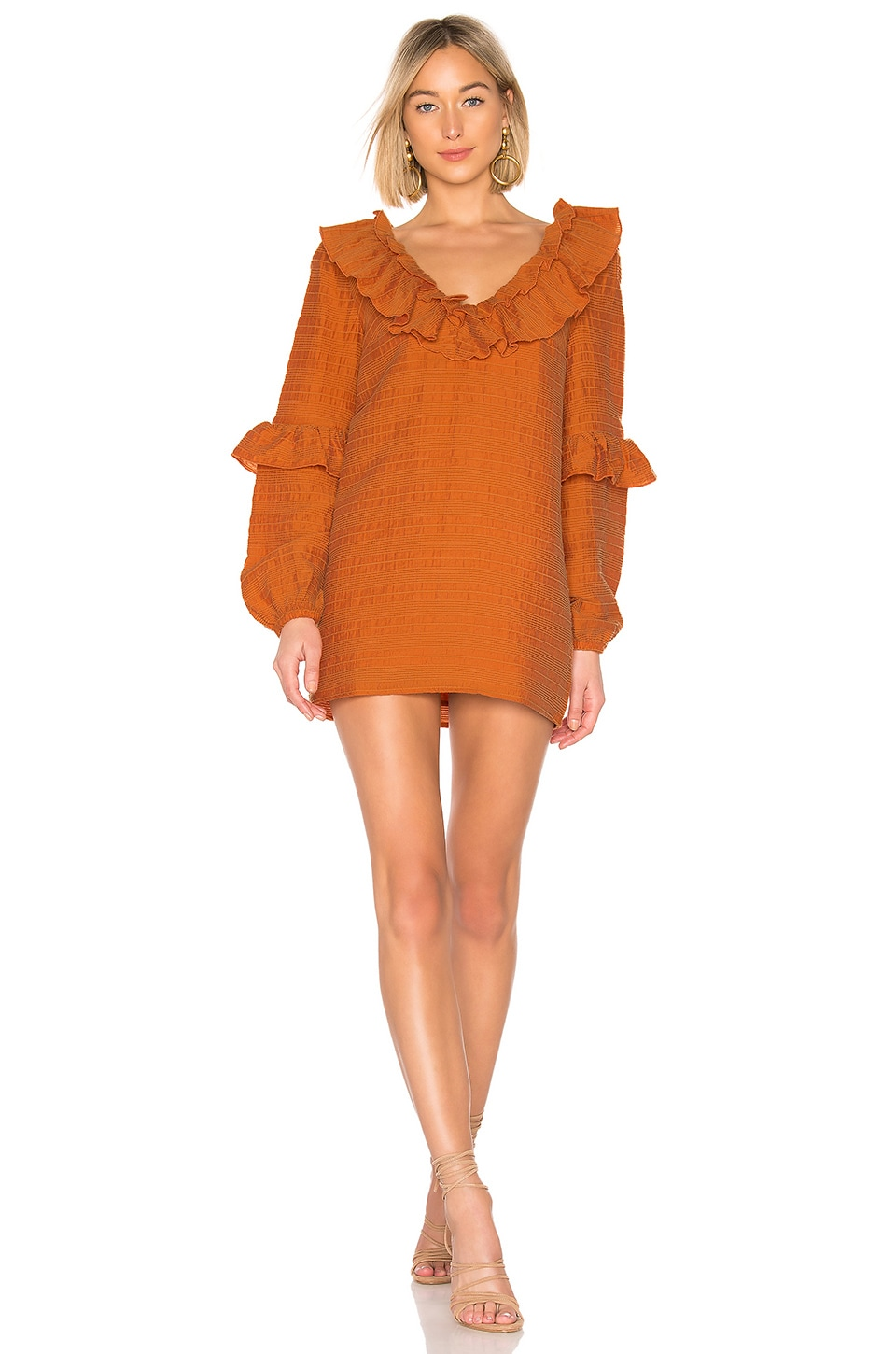 Tularosa Heather Dress in Orange