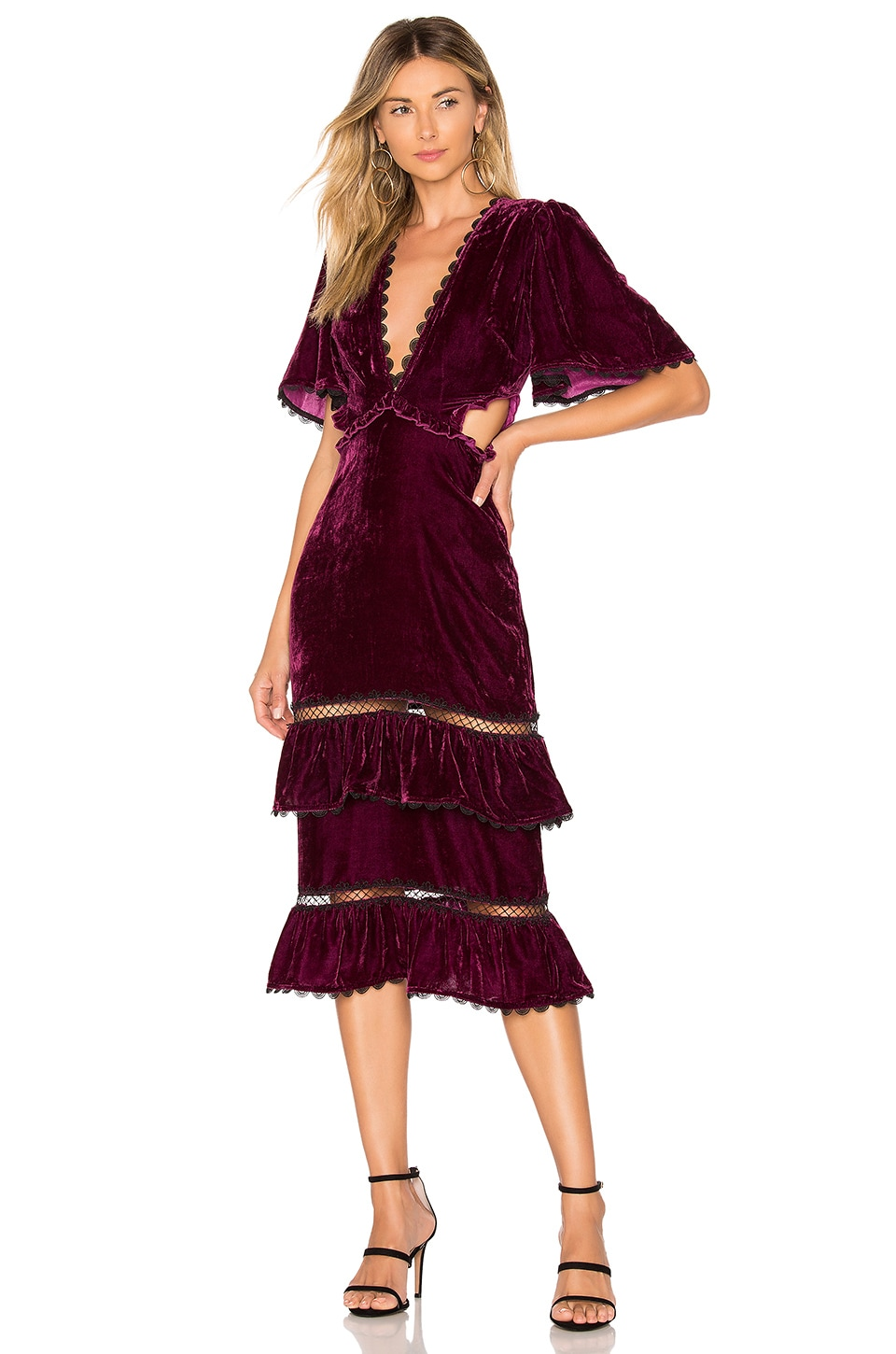 Tularosa Kaylee Dress in Plum