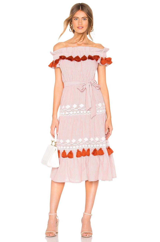 Tularosa Lana Dress in Rust Stripe