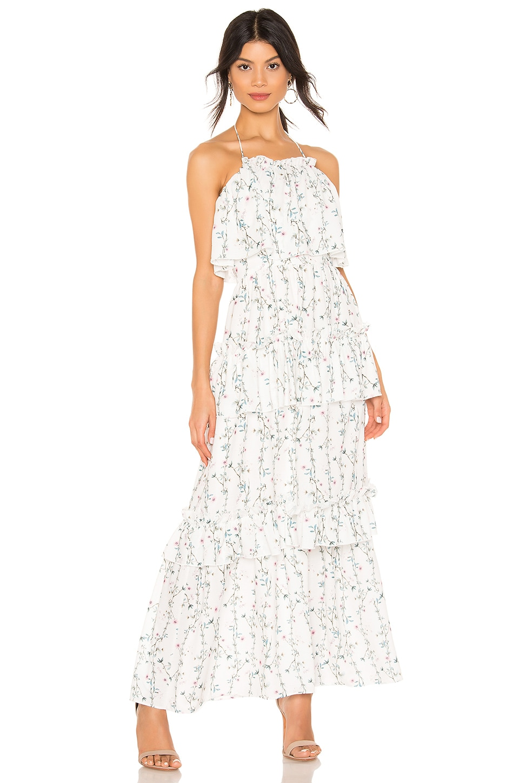 Tularosa Owen Dress in Ivory Vine Floral