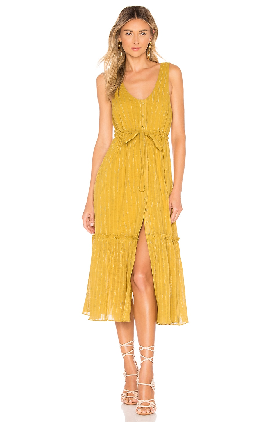 Tularosa Monroe Dress in Pear Yellow