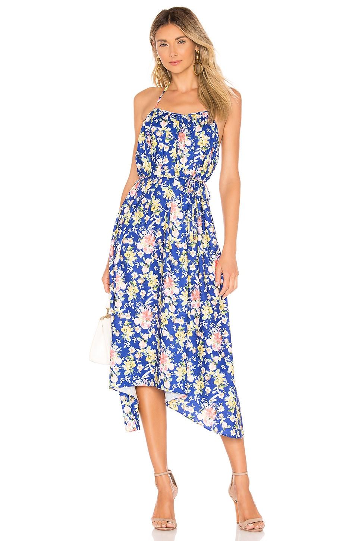 Tularosa Ginny Dress in Cobalt Mixed Floral