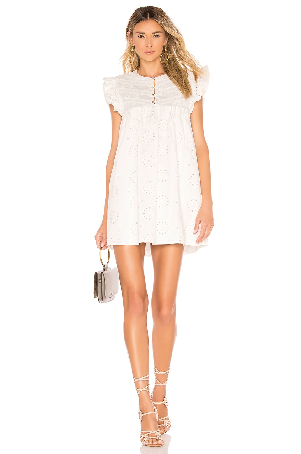 Tularosa Hill Dress in White