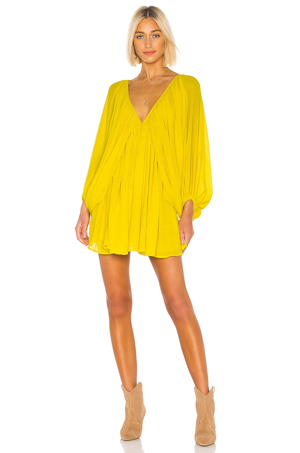 Tularosa Nola Dress in Vibrant Yellow