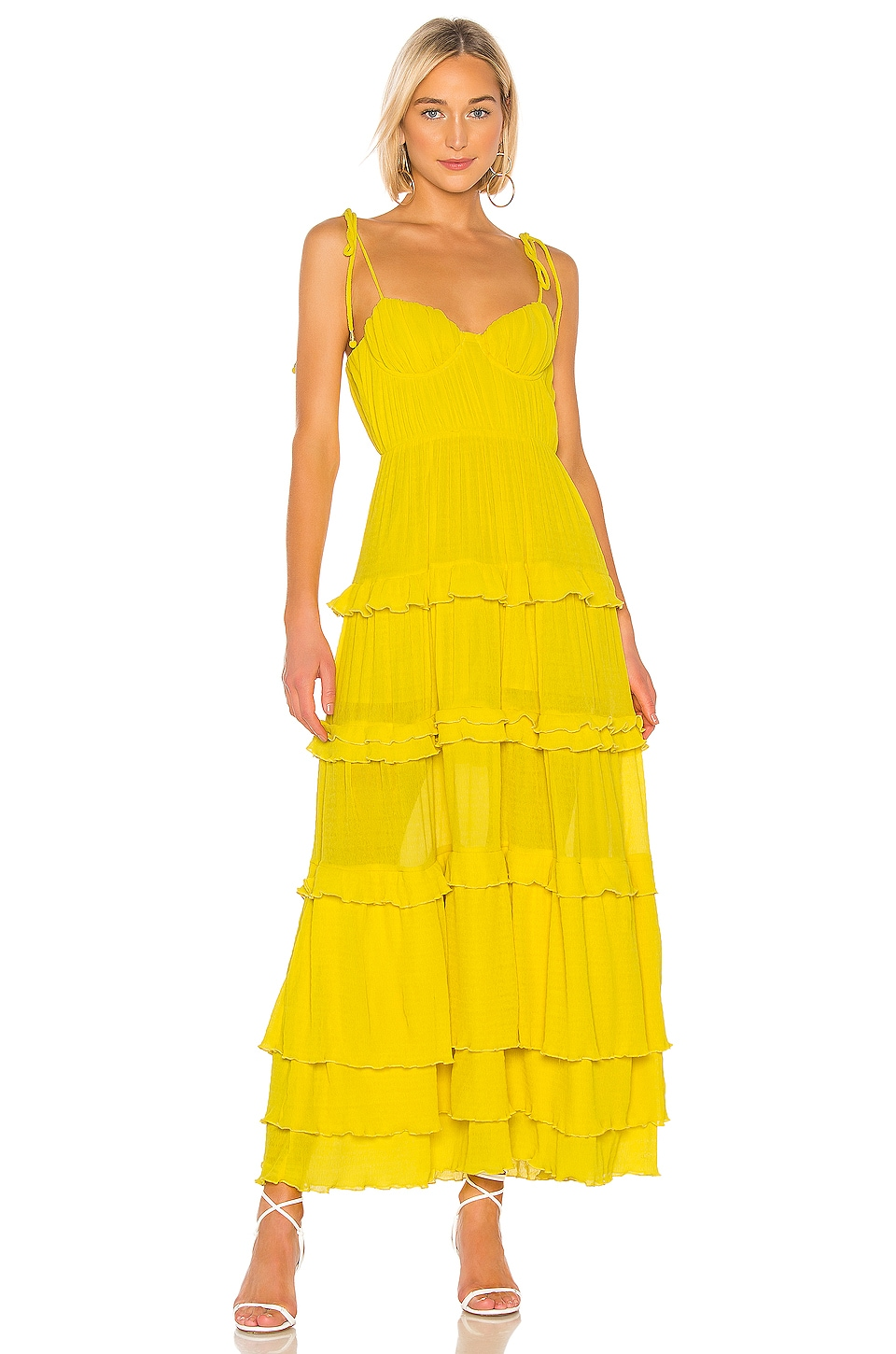 Tularosa Tinsley Dress in Vibrant Yellow