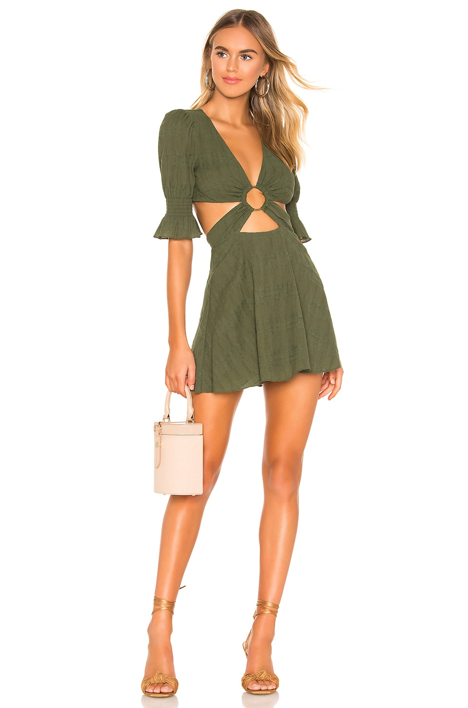 Tularosa Nanette Dress in Moss Green