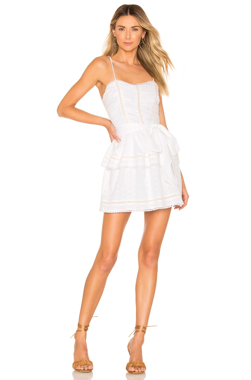 Tularosa Josie Dress in White
