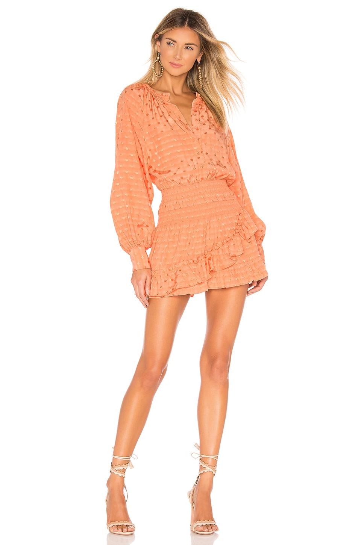Tularosa Charlene Dress in Pale Peach