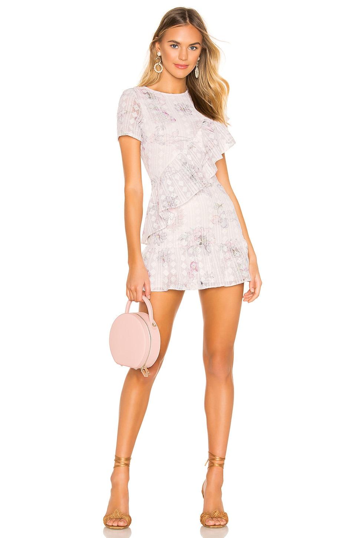 Tularosa Claudine Dress in Ivory & Lilac