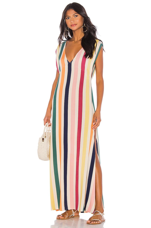 Tularosa Dance Maxi in Rainbow Stripe