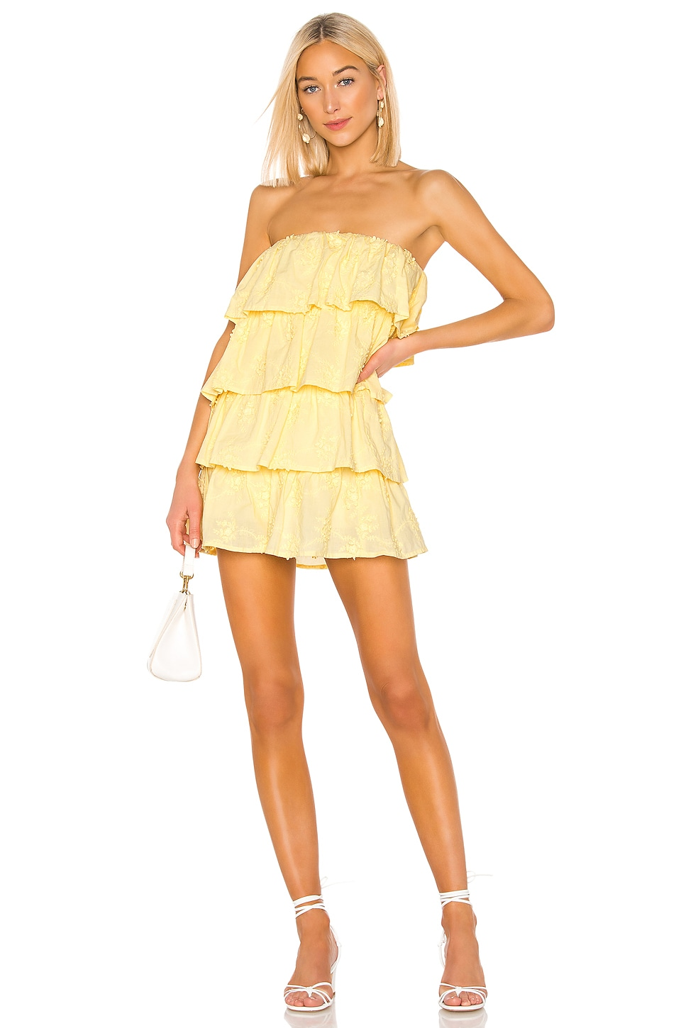 Tularosa Finley Dress in Pastel Yellow